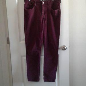 Levi Strauss Purple Corduroy Jeans sz 14/32